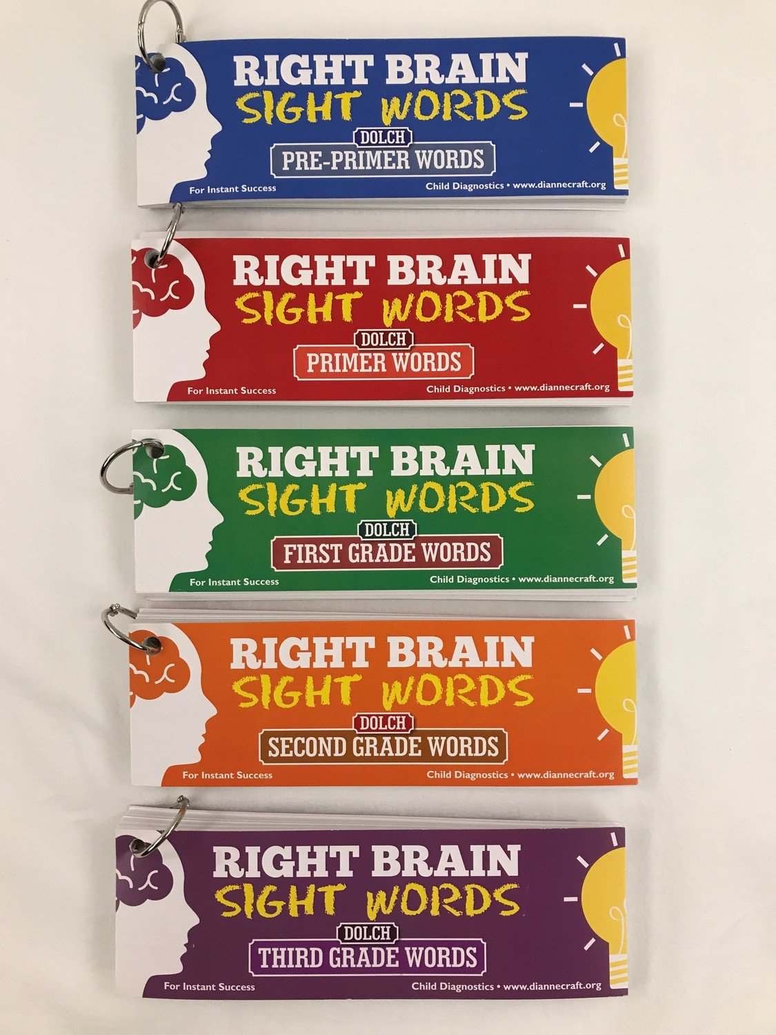 Right Brain 220 Dolch Sight Word Cards Package