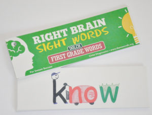 Right Brain First Grade Dolch Sight Word Cards