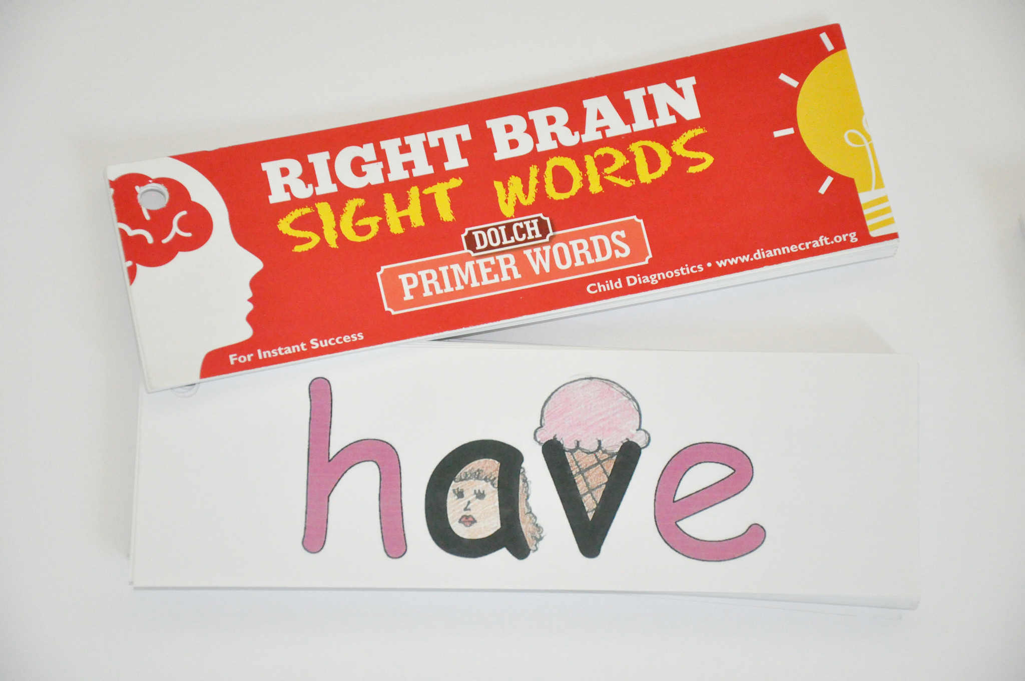 Right Brain Dolch Primer Sight Words
