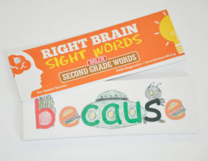Right Brain Dolch Second Grade Sight Word Cards