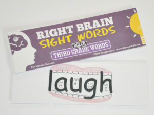 Right Brain Dolch Third Grade Sight Word Cards