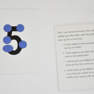 Right Brain Visual Number Cards